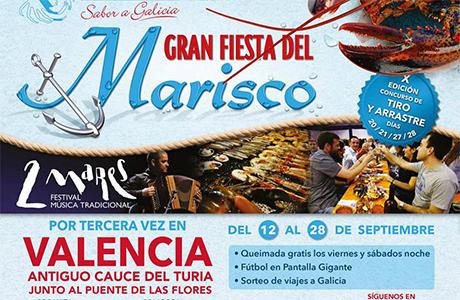 Gran fiesta del marisco en Valencia