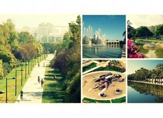 Le parc du Turia est une des attractions majeures de Valencia