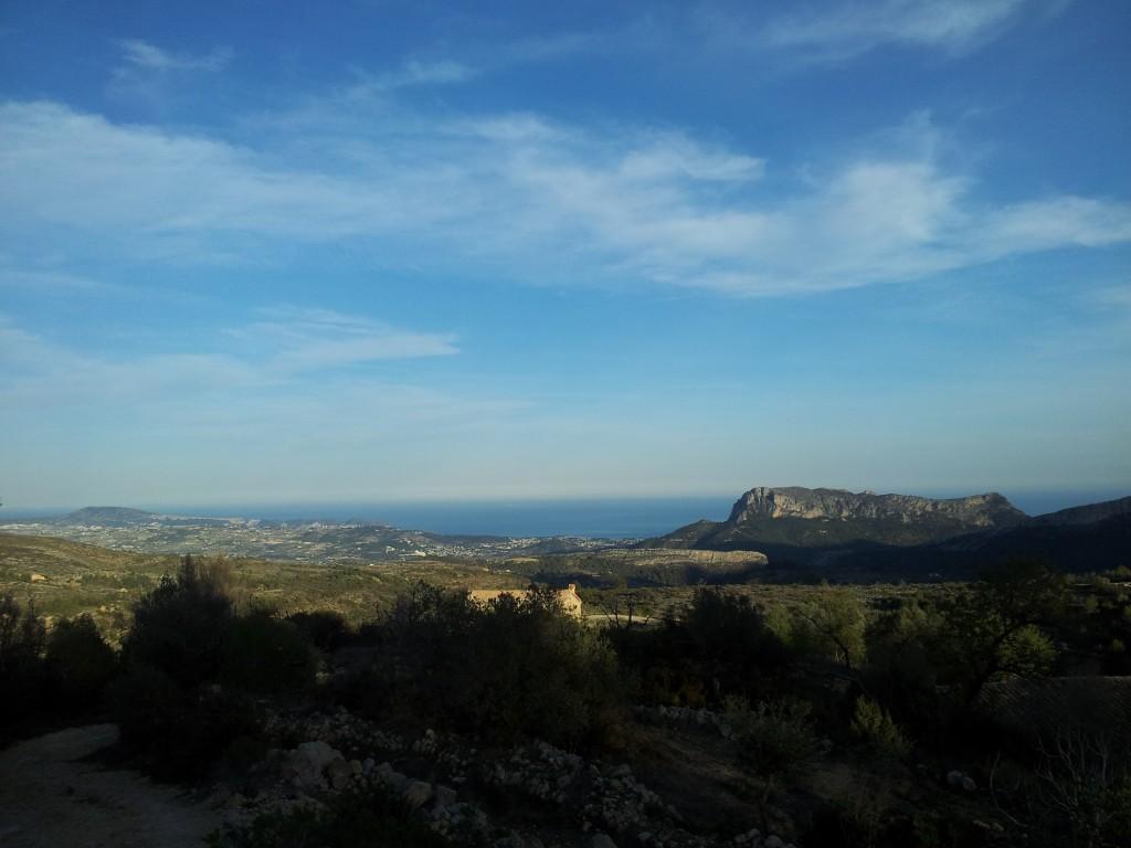 panorama sur la parc naturel près de Moraira