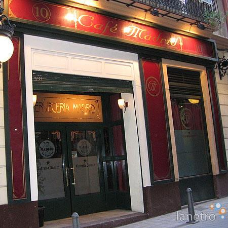 photo de la façade du Café Madrid de Valencia