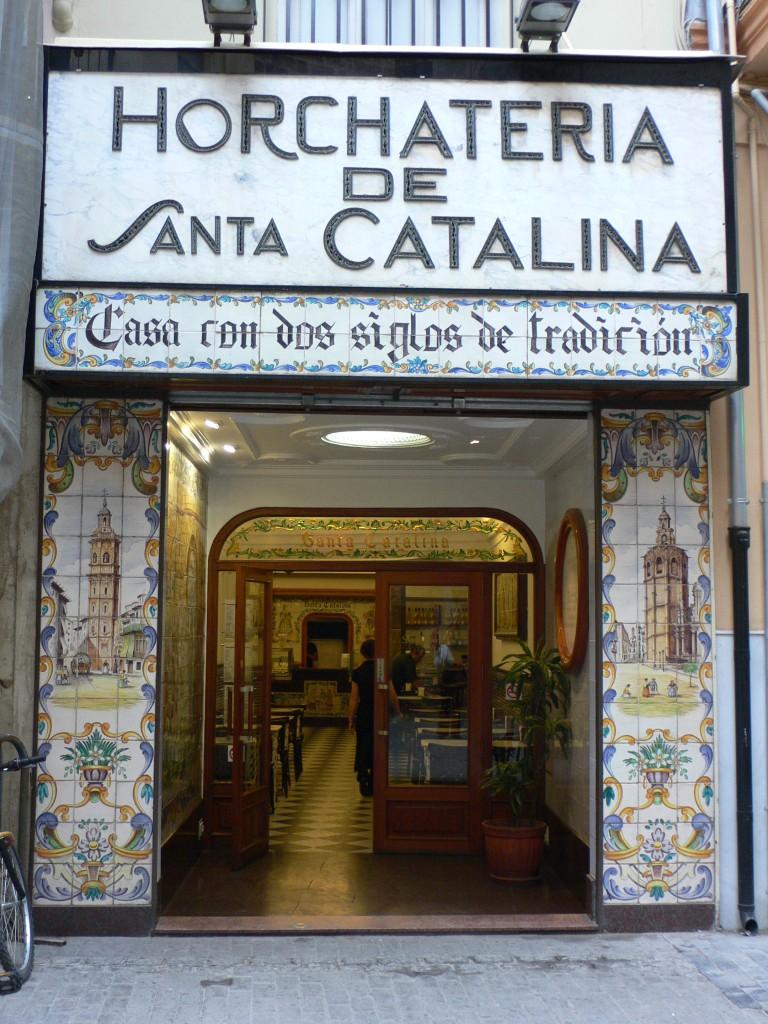 l'horchatería Santa Catalina est l'établissement de Valence le plus réputé pour la horchata