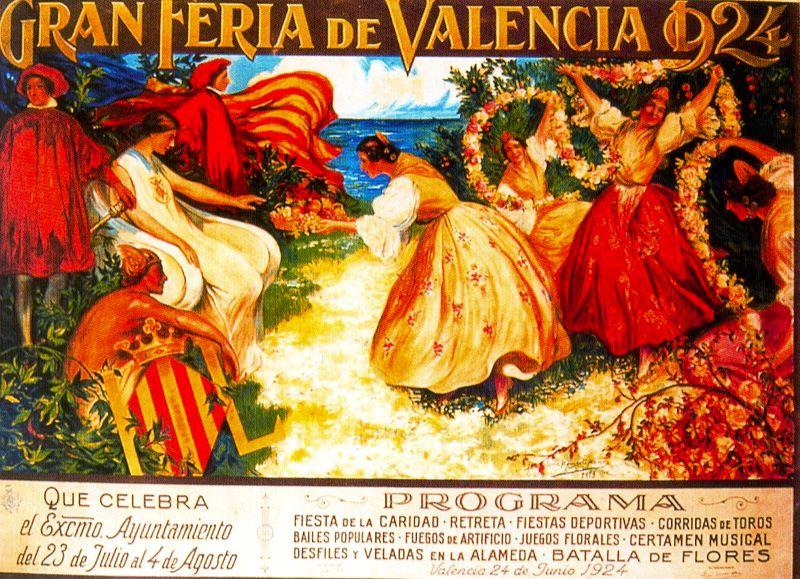 Bartolome Mongrell Mu_oz - Cartel de la Feria de Julio _Gran Feria de Valencia_
