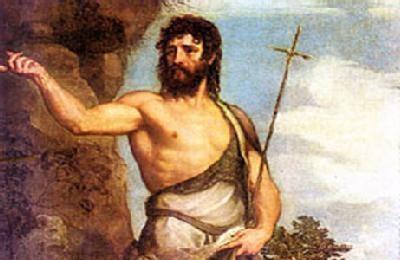 Peinture du Titien représentant Saint Jean le Baptiste