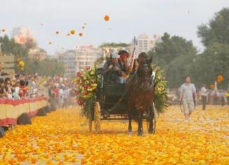 la batalla de las flores pendant la feria de Julio de Valencia
