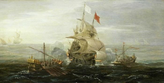 Attaque pirate au bord de Dénia