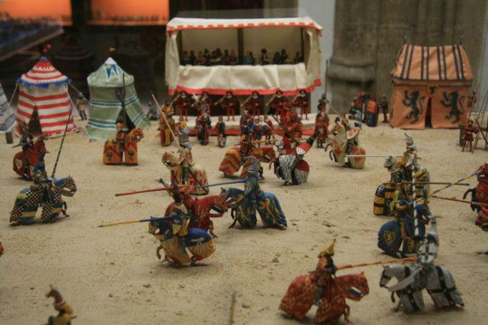 une des scénettes présentées au Museo de los soldaditos de plumo de Valence