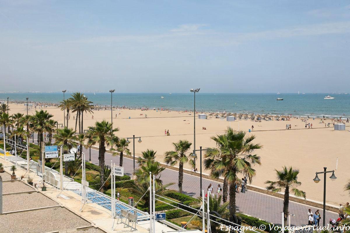 C mo ir del centro de valencia a la malvarrosa en for Spiaggia malvarrosa valencia